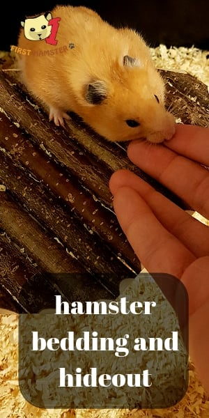 hamster bedding and hideout
